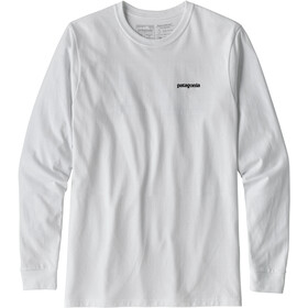 Patagonia P-6 Logo - T-shirt manches longues Homme - blanc